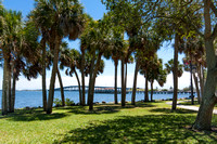 View of Eau Gallie Causeway from Pineapple Park