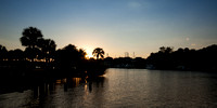 Sunset on Eau Gallie Harbor
